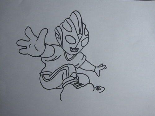 儿童画 简笔画 手绘 线稿 500_375图片