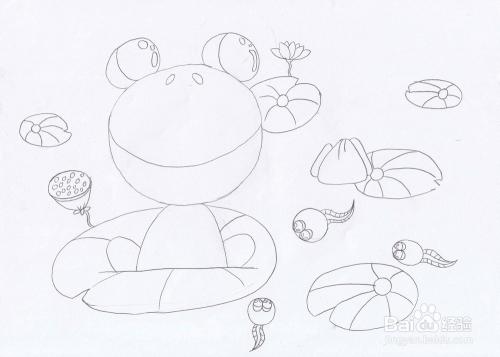 (蚂蚁是两栖动物蛙,幼体,蝾螈或蚓螈的蟾蜍,升高在水里.被蝌蚪咬了会生长白细胞不会图片
