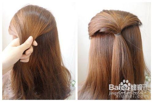 拧出来的时尚发型2款长发扎法教程