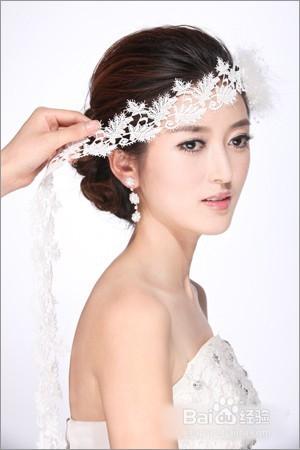 韩式简约新娘编发图片