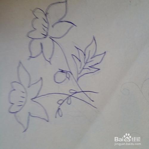 儿童兰花简笔画画法