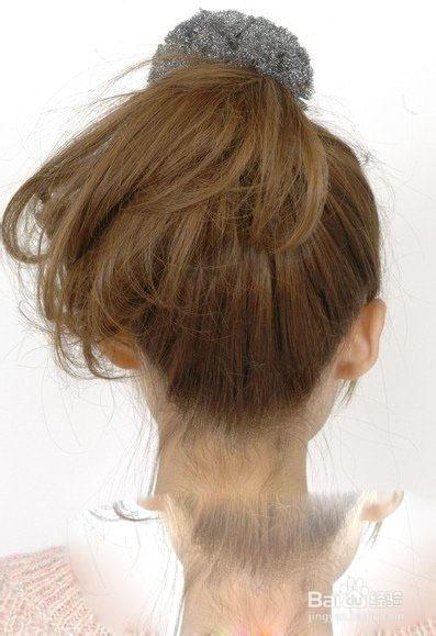 头发少扎什么发型图片