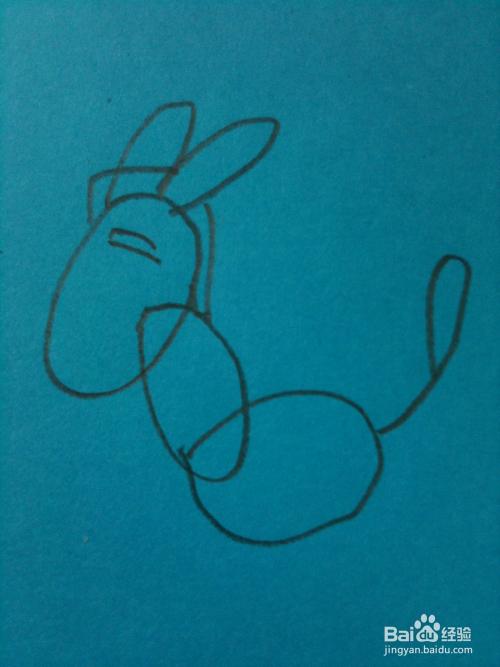 简笔画小毛驴