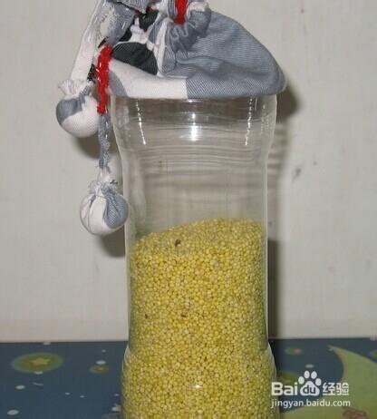 还可以利用彩色的纸给矿泉水瓶价格外包装,制作个小动物.图片