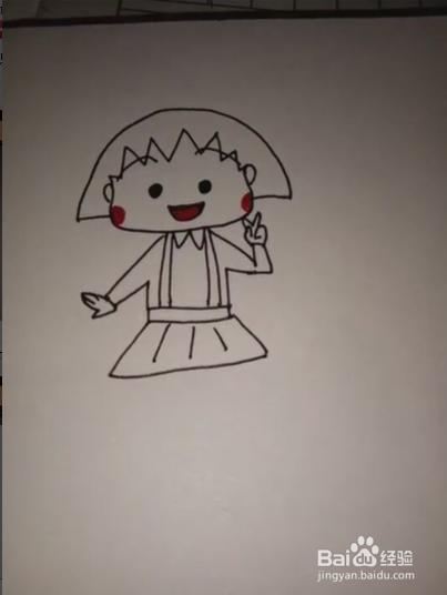 樱桃小丸子简笔画
