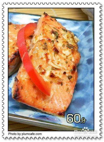 蜜汁烤三文鱼的做法