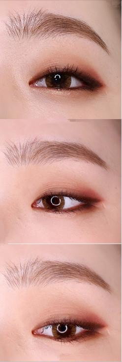 时尚/美容 > 化妆  3 用眼影晕染一下 4 单眼皮要在画眼线之前涂上图片