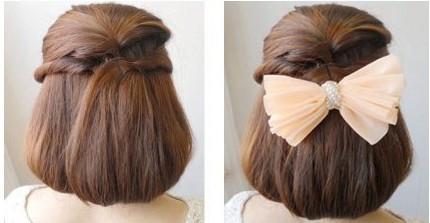 韩式淑女发型扎法图片