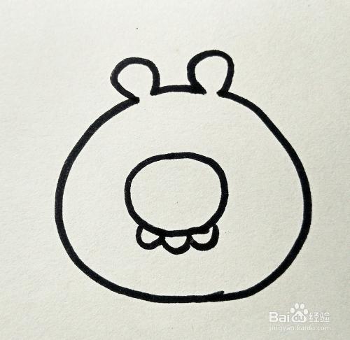 儿童简笔画 愤怒的小鸟 绿色小猪