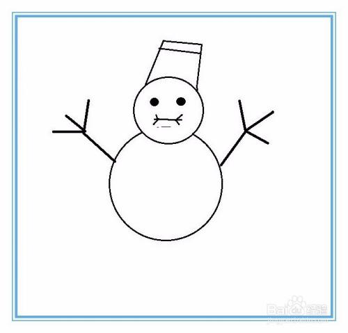 简笔画雪人怎么画