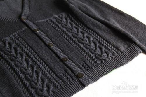 棒针编织男士居家毛衣外套的款式和图解图片