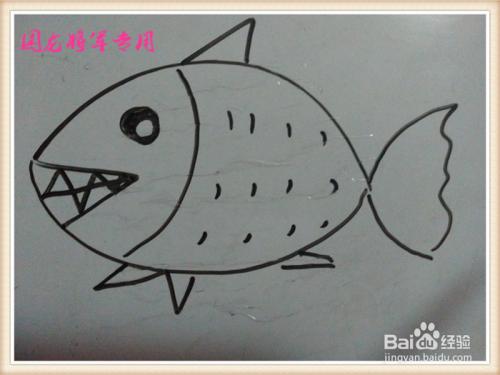 儿童简笔画之小鱼怎么画
