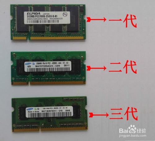 如何区分DDR1 DDR2 DDR3内存条?