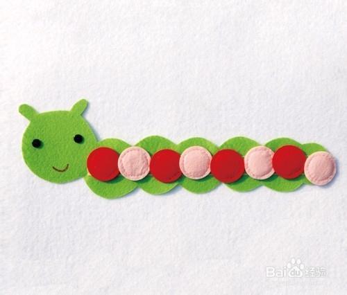 幼儿园数学区自制手工玩教具:毛毛虫颜色排序图片