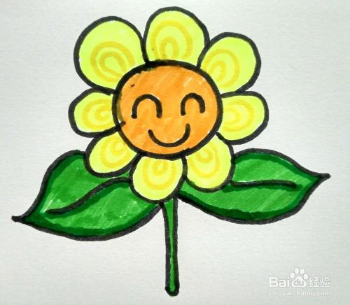 怎么画向日葵 儿童简笔画向日葵的画法