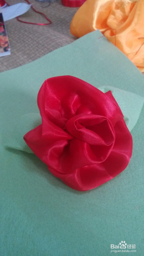 手工玫瑰抽花的制作方法图片