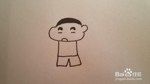 过年 教孩子画小新的简笔画
