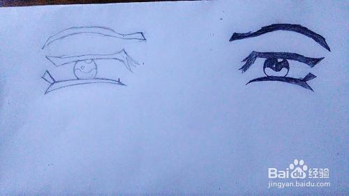 简单的动漫人物眼睛怎么画(1)图片