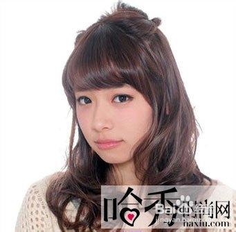 齐刘海怎么扎头发好看图片
