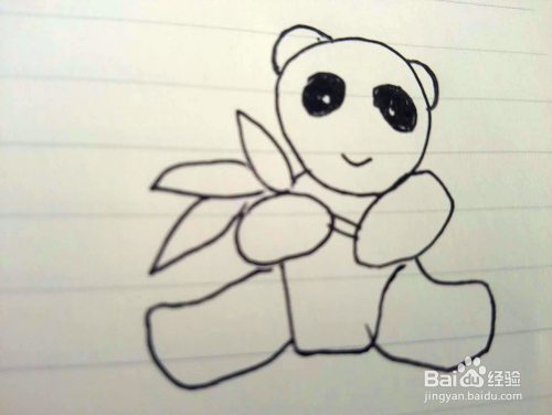 简笔画之小熊猫的画法