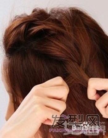 短发编头发花样图片 短发编头发