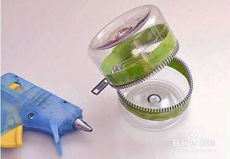 怎么用矿泉水瓶制作拉链收纳盒图片