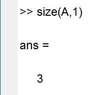 Matlab中size函数的用法