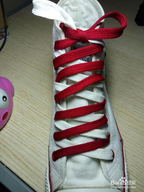 花式鞋带之斜线结图片