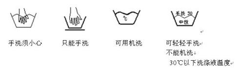 衣服上的洗涤标志是什么意思?