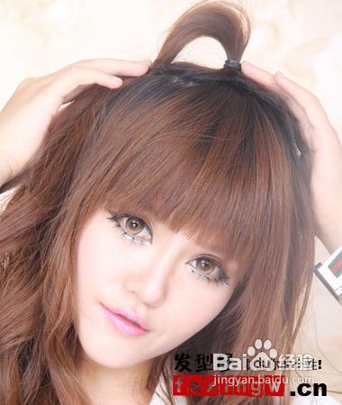 韩版扎头发的方法步骤图片