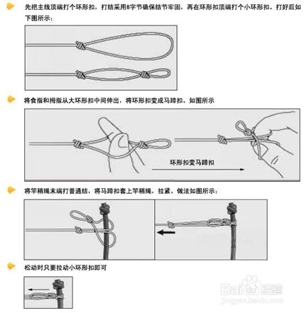 怎么绑鱼钩和鱼线_百度经验