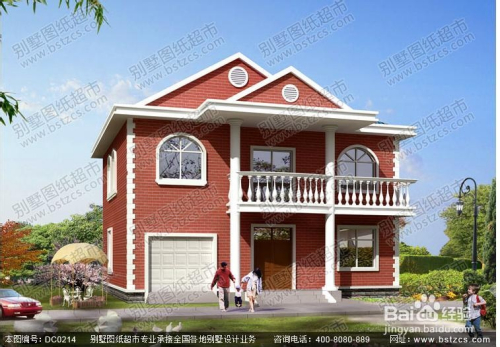 新车库农村带别墅小别墅设计图西北地区二层二层v车库图片