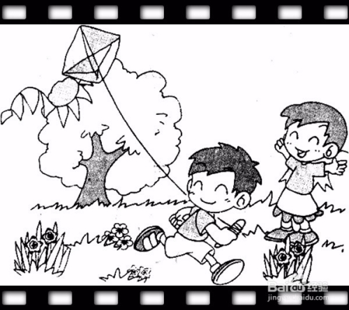 放风筝的看图说话图片