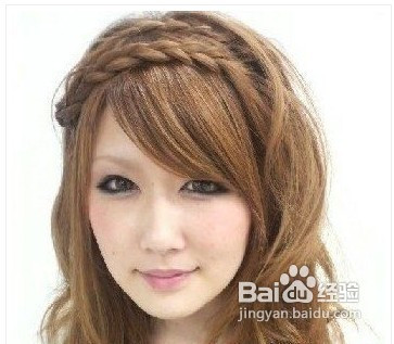 波西米亚风格韩式编发发型的打造图片