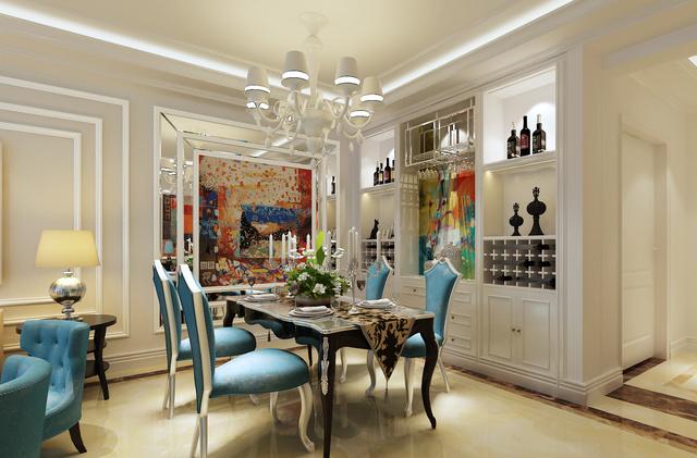 金隅丽港城130平米简欧风格案例欣赏 呼和浩特家装图片