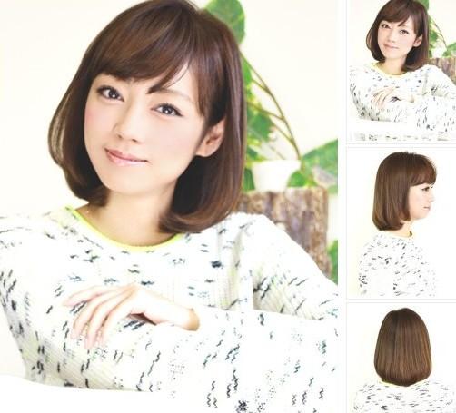 圆脸女生显瘦流行发型 短烫发or卷发都适合修颜图片