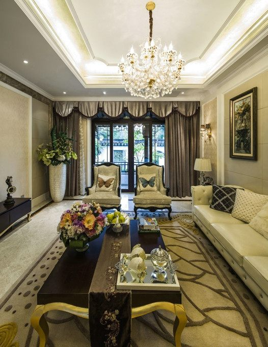 欧式新古典混搭风格别墅装修设计图案例图片