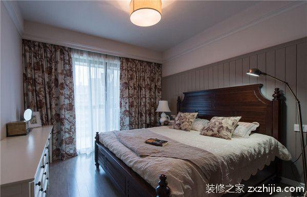 美式风格温馨卧室效果图_装修之家装修效果图图片