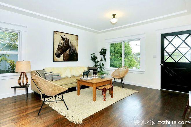 北欧风格精美阁楼客厅效果图_装修之家装修效果图图片