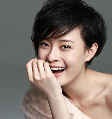 韩国女明星短发图片