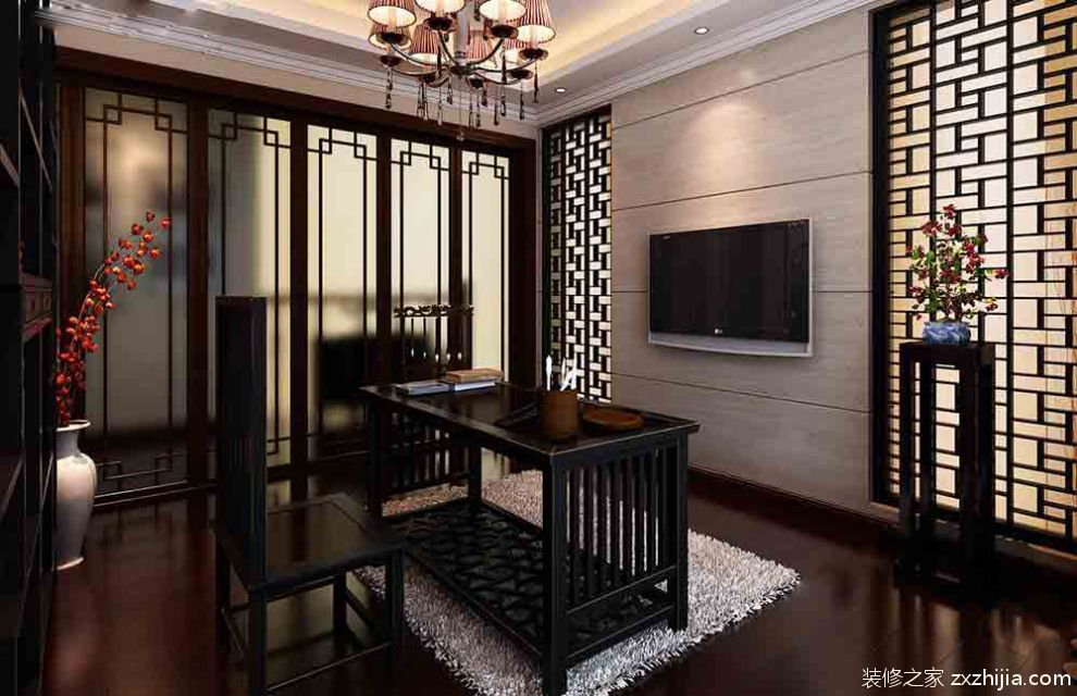 雅致中式书房装修效果图_装修之家装修效果图图片