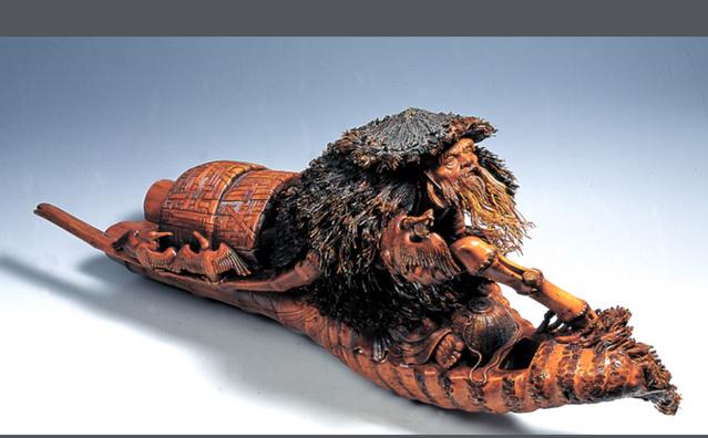 农村人把竹根当柴烧,根雕匠人把它做成工艺品价值百万图片