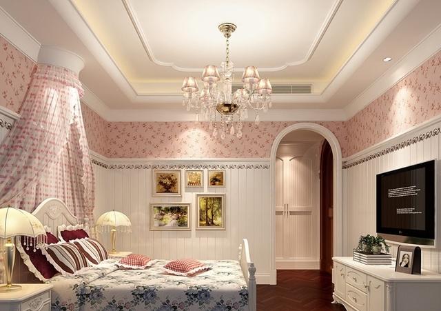 美式新古典跃层公寓装修效果图,