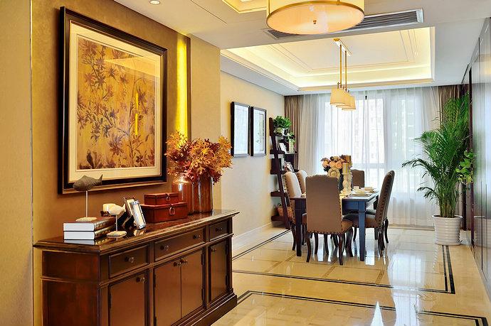 美式古典风格大户型餐厅装修效果图_harbor house_太平洋家居网高清图片