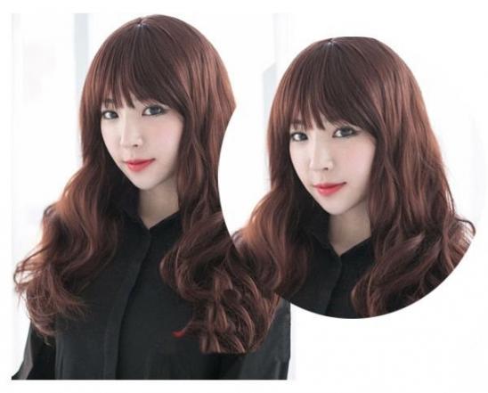 中长卷发发型图片,中长发卷发图片2016,有刘海中长发卷发图片 - 七丽图片