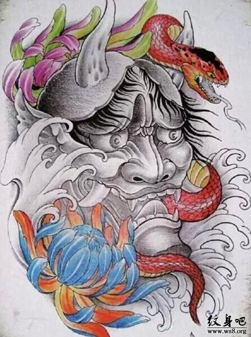 半臂般若纹身手稿图片展示图片