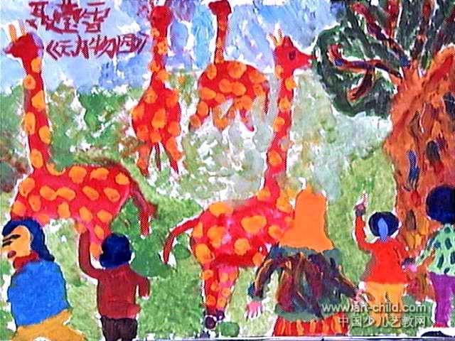 花瓶点点画画简笔画-郑州中原区龙点绘画中心 动物园儿童画