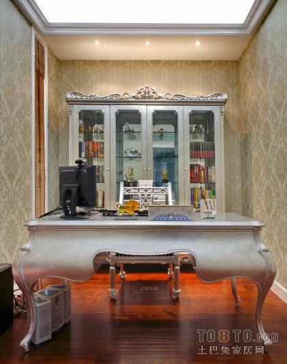 欧式小书房书柜装修效果图大全2013欣赏 高清图片
