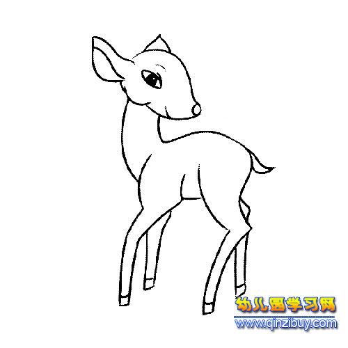 卡通小鹿简笔画 卡通小猫简笔画 卡通小猴子简笔画