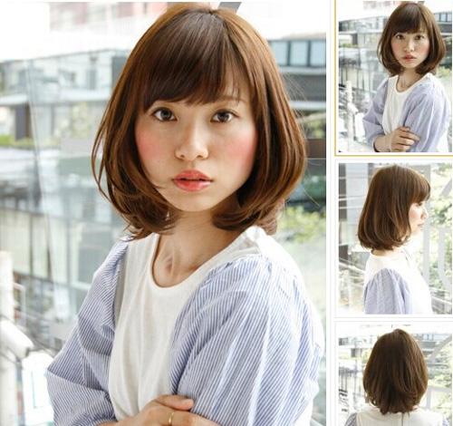 短发内扣梨花头发型图片 修饰脸型让你青春无敌图片